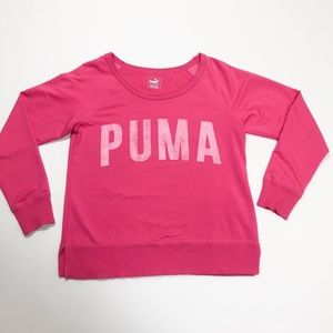 PUMP pink Logo Crew Neck Sweater